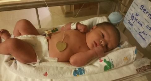 My baby boy was born on Christmas Eve.