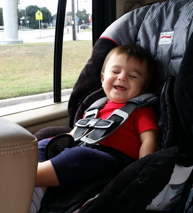 All smiles when we listened to Christian music.