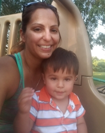 My sweet boy and I at the playground.