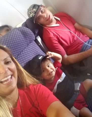 My first plane ride.